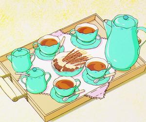 tea time, kawaii, and anime food image