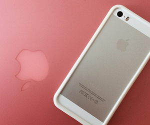 apple, girl, and iphone image