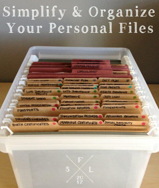 Organize Your Personal Files Simply