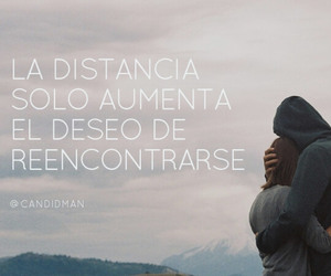 love, quote, and distancia image