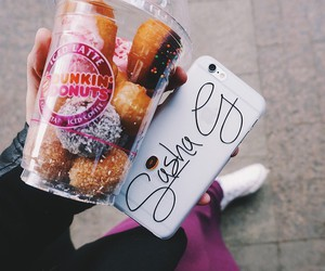 dunkin donuts, russian Girls, and iphone 6 image