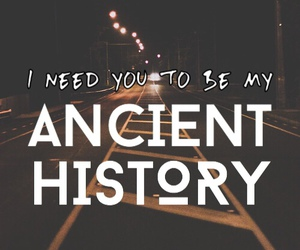 ancient history, cody carson, and words image