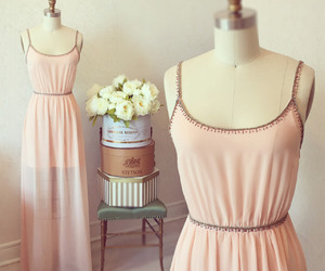adorable, long dress, and pale image