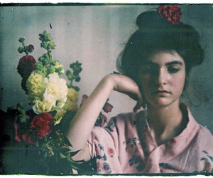 flowers, vintage, and fashion image