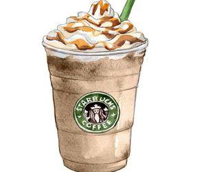 starbucks, drawing, and coffee image