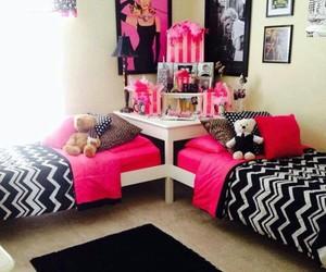 room, girl, and pink image