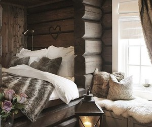 bedroom, house, and bed image