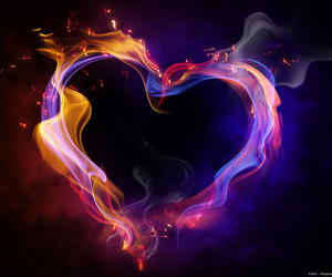 heart and fire image