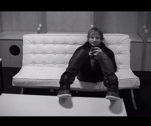 black and white, x, and ed sheeran image