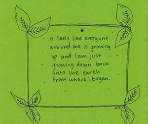 quotes, sad, and green image
