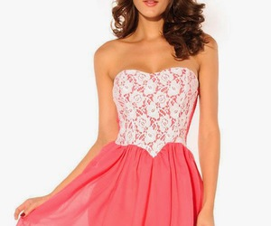 dress, fashion, and pink dress image