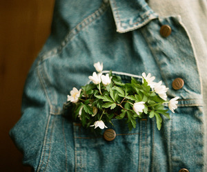 flowers, grunge, and jeans image