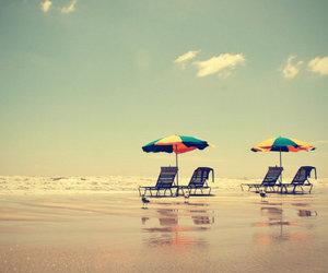 beach, summer, and umbrella image