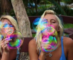 bubbles, girl, and blonde image