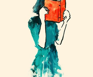 book, art, and blue image