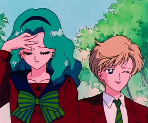 sailor moon, sailor neptune, and michiru kaioh image