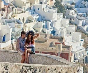 Greece, couple, and love image