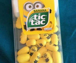 minions, tic tac, and yellow image