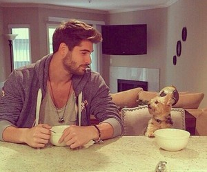 dog, boy, and nick bateman image