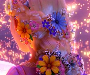 flowers, rapunzel, and disney image