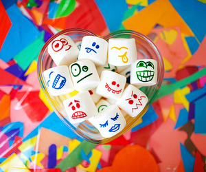 marshmallow, face, and colorful image