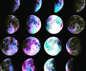 moon, galaxy, and night image