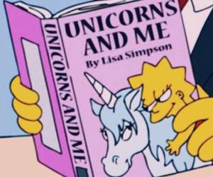 book, lisa simpson, and pink image