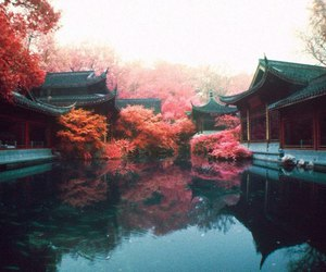 china, lake, and nature image