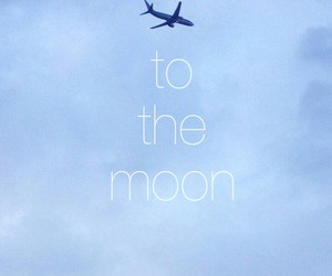 fly, moon, and sky image