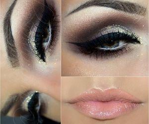 brown, makeup, and eyeliner image