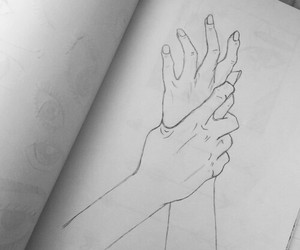 drawing, hands, and art image
