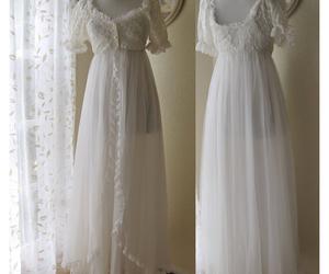 feminine, nightgown, and white image