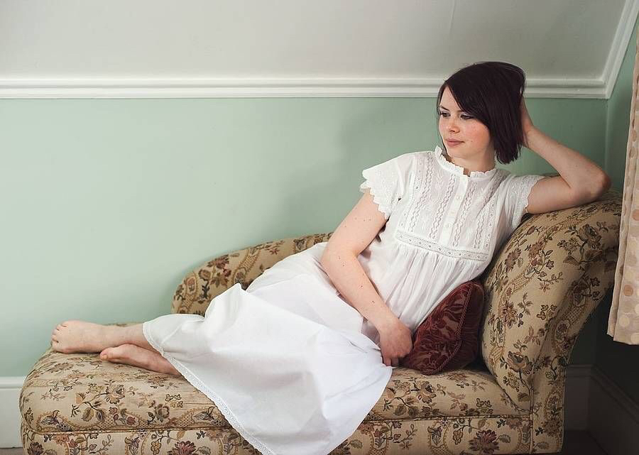 cotton, nightgown, and white image