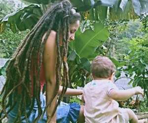 baby, dreads, and girl image