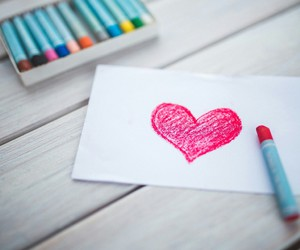 heart, colors, and draw image