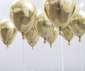 balloons, gold, and party image
