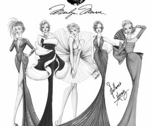 Marilyn Monroe and sketch image