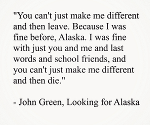 john green, looking for alaska, and typography image