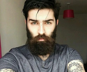 beard, man, and tattoo image