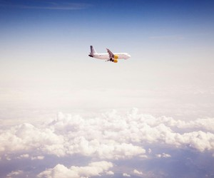 air, plane, and airplane image