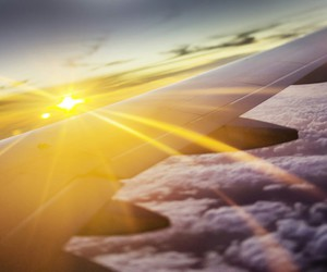 fly, sun, and cloud image