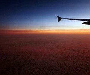 cloud, dark, and plane image