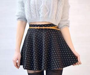 fashion, skirt, and sweater image