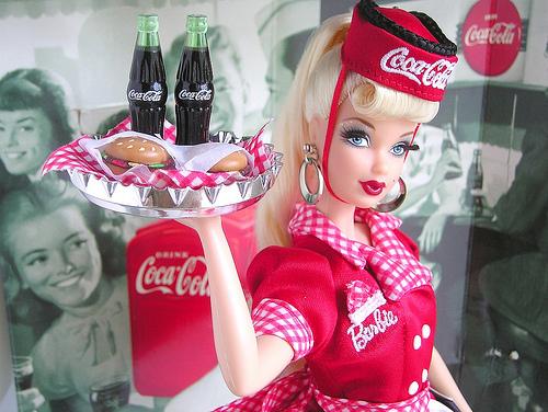 barbie, coca cola, and coke image