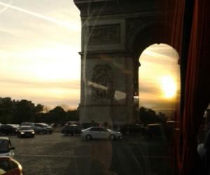 paris, sunset, and sundown image