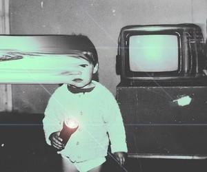 vintage, boy, and tv image