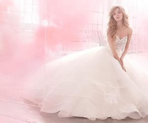 wedding dress and pink image