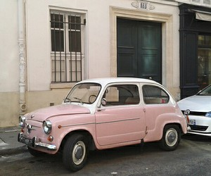 fiat 500, france, and oldschool image