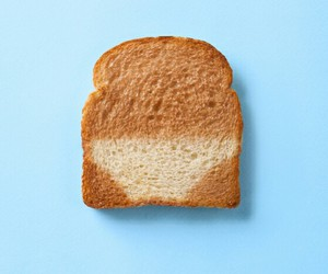 bread, blue, and toast image