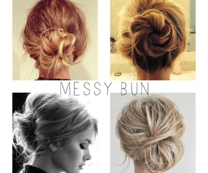 buns, hair, and hairstyles image